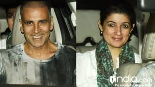 Akshay Kumar, Twinkle Khanna And Family At The 'PadMan' Screening