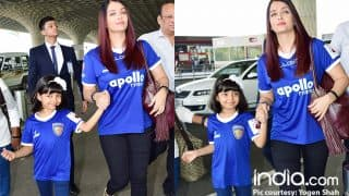 Aaradhya Bachchan Is All Smiles With Mother Aishwarya Rai Bachchan At The Mumbai Airport