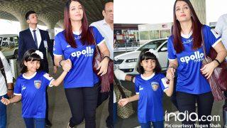 Aaradhya Bachchan Is All Smiles With Mother Aishwarya Rai Bachchan At The Mumbai Airport