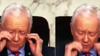 US Senator Orrin Hatch Removes 'Invisible Glasses' in Viral Video, Twitterati Couldn't Stop Laughing Out Loud