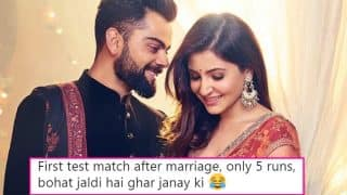 Anushka Sharma Trolled on Twitter As Virat Kohli Manages Only 5 Runs in Match Against South Africa