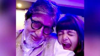 Aaradhya Bachchan And Navya Naveli Made The New Year Extra Special For Amitabh Bachchan - View Pics