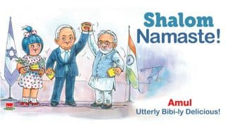 Amul Topical Celebrates the Bonding of PM Narendra Modi With Israel PM Benjamin Netanyahu With Shalom Namaste Ad