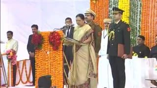 Anandiben Patel Takes Oath as Governor of Madhya Pradesh