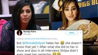 Bigg Boss 11: Bandgi Kalra Tweets That Winner Shilpa Shinde Hates Arshi Khan - Check Tweet