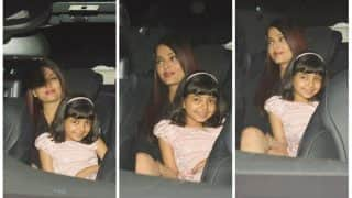 Aaradhya Bachchan Smiles Like A Doll As She Gets Spotted With Aishwarya Rai Bachchan And Abhishek Bachchan In The City