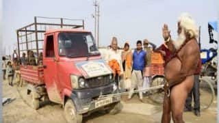 Magh Mela: Photos of a Baba Pulling Tractor With His Penis Goes Viral
