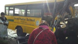 Madhya Pradesh: Five Students, Driver Killed as School Bus Collides With Truck in Indore