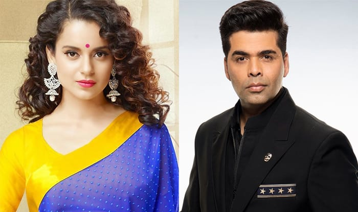 Kangana Ranaut once again takes a dig at Karan Johar