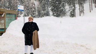 दावोस: पीएम मोदी ने उठाया बर्फबारी का लुत्फ, साझा की तस्वीर