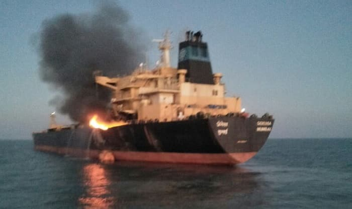 Fire onboard oil vessel off Gujarat coast, no oil spill reported