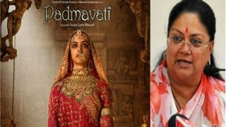 Padmavat Row: Vasundhara Raje Refuses to Allow Film Screening in Rajasthan Even After Censor Board Nod