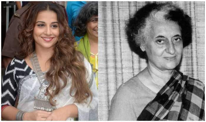 Vidya Balan To Star In Film Adaptation Of Indira Gandhi Book