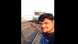 हैदराबाद: ट्रेन के सामने सेल्फी लेने के चक्कर में युवक पहुंचा अस्पताल