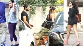 Alia Bhatt, Shahid Kapoor, Mira Rajput, Janhvi Kapoor Begin 2018 On A High Fitness Note - View Pics