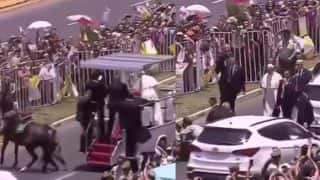 Pope Francis Stops Popemobile and Breaks Protocol to Check on Policewoman Thrown Off Her Horse, Video Goes Viral of the Procession