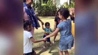 Salman Khan's Nephew Ahil Sharma Playing Ringa Ringa Roses Will Take You Back To Your Childhood (Video)