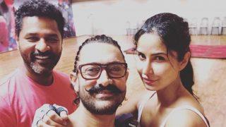 Aamir Khan, Katrina Kaif, and Prabhudeva Rehearse For Thugs Of Hindostan Dance Number