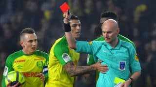 Ligue 1 Referee Suspended For Kicking Nantes Player During PSG Game