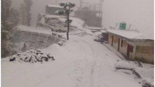 शिमला-उत्तराखंड में मौसम की पहली बर्फबारी, फिर लौटी सर्दी