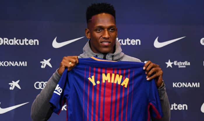 Barcelona sign Colombia defender Yerry Mina from Palmeiras