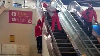 Winter Olympics PyeongChang 2018: Swiss Freestyle Skier Fabian Bösch Climbs an Escalator Literally, Viral Video Leaves Netizens in Awe