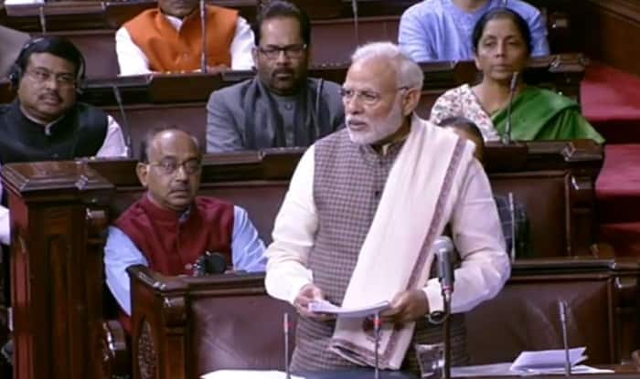 Narendra Modi in Rajya Sabha