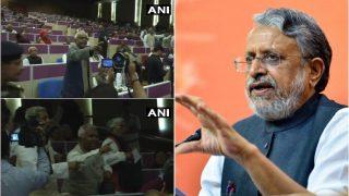 संसदीय सम्मलेन में सुशील मोदी के भाषण के दौरान RJD नेताओं ने किया हंगामा