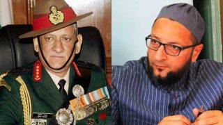 General Bipin Rawat Says Pakistan Pushing Bangladeshis Into Northeast; Army Chief Shouldn't Interfere in Political Matters, Says Asaduddin Owaisi