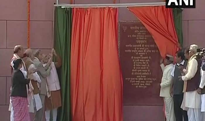 Modi inaugurates new BJP headquarters in Delhi
