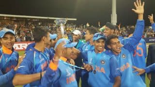 India U19 Cricket Team Players Celebrate World Cup Win in Dressing Room, Watch Video