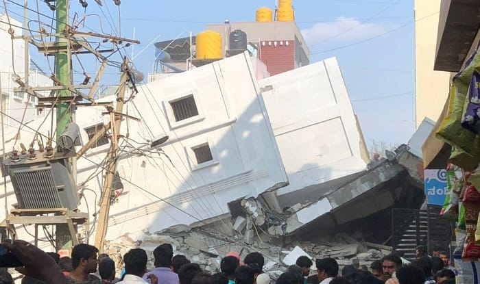Two killed, 7 rescued in building collapse
