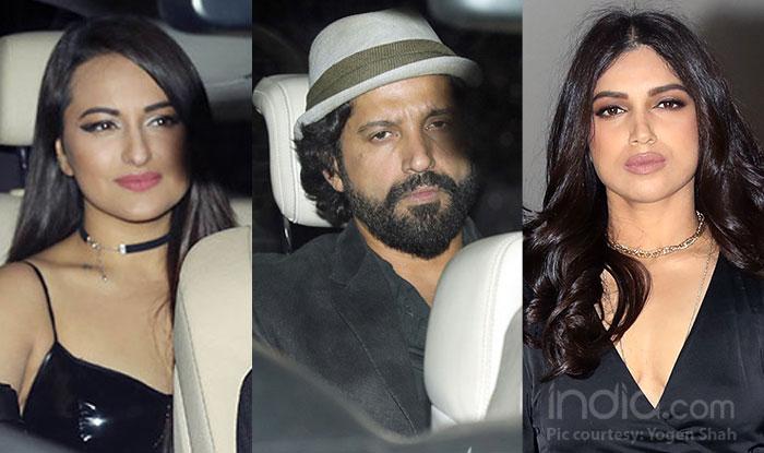Farhan Akhtar, Bhumi Pednekar, Sonakshi Sinha Attend Karan Johar's 'Singles Only' Bash This Valentine's Day