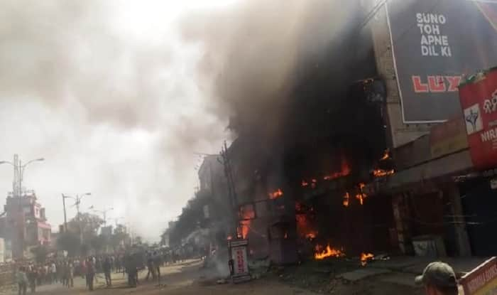 Major Fire in garment showroom in Cuttack