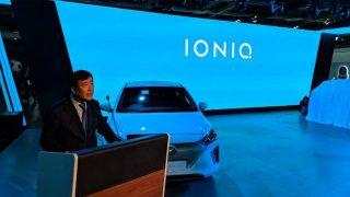 Auto Expo 2018: Hyundai Showcases 2018 Ioniq Electric Sedan