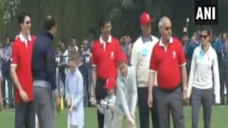 Justin Trudeau & Children Play Cricket With Kapil Dev, Mohammad Azharuddin
