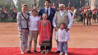 Prime Minister Narendra Modi Receives Canada PM Justin Trudeau, His Family at Rashtrapati Bhavan