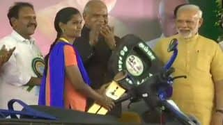 Jayalalithaa's 70th Birthday: Prime Minister Narendra Modi Launches Amma Two-wheeler Scheme For Working Women in Chennai