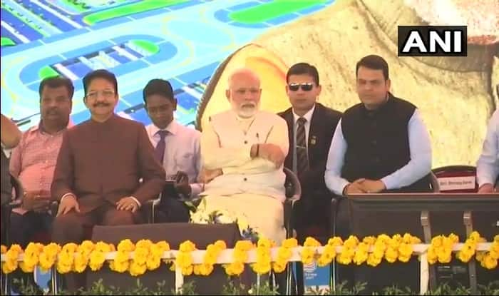 PM Narendra Modi lays Foundation Stone for Navi Mumbai international Airport