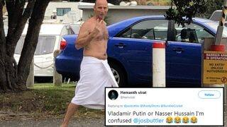 Russian President Vladimir Putin or Cricketer Nasser Hussain? Twitterati is Confused by Photo Shared by Jos Butler