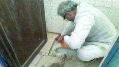 गंदगी की वजह से बंद पड़ा था स्कूल का टॉयलेट, बीजेपी सांसद ने देखा तो खुद हाथों से किया साफ