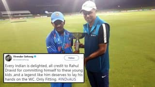 Under 19 Cricket World Cup: Rahul Dravid Finally Laid his Hands on World Cup and Twitterati Says it's the Most Satisfying Feeling