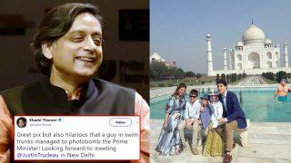 Shashi Tharoor Shares Photoshopped Image of Delhi CM Arvind Kejriwal Photobombing Justin Trudeau's Taj Mahal Pic, Calls it Hilarious