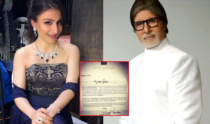 Soha Ali Khan Receives A Letter Of Encouragement From Big B, Here's Why