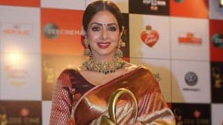 Sridevi In Her Favourite Red And Golden Kanchivaram Saree One Last Time