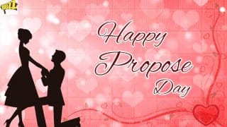 Happy Propose Day 2018: Best Wishes, SMS, WhatsApp Forwards, Facebook Status, GIF to Send to Your Valentine