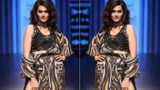 Lakme Fashion Week 2018: Judwaa 2 Actress Taapsee Pannu Made Heads Turn As She Walked At LFW Ramp For Label by Ritu Kumar