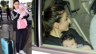 Taimur's Little Cousin Inaaya Naumi Spotted Taking A Ride Around Town With Mommy Soha Ali Khan (View Pics)