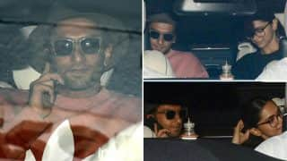 Deepika Padukone, Ranveer Singh SPOTTED Exiting Karan Johar's Residence Together In A Car - View Pics