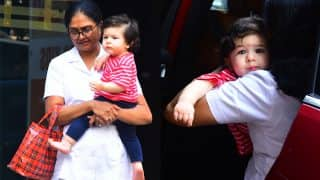 Taimur Ali Khan Pouts Just Like Mommy Kareena Kapoor Khan As He Gets Snapped By The Paparazzi In Bandra - See Pics